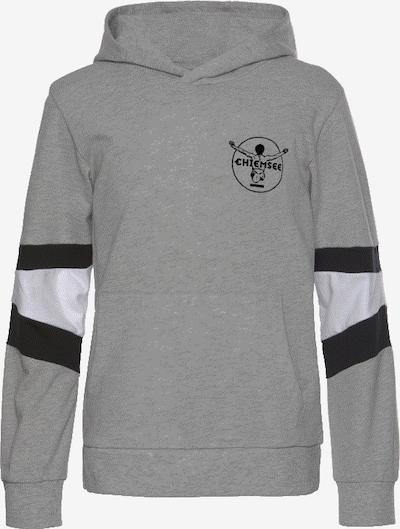 CHIEMSEE Kapuzensweatshirt in graumeliert / schwarz / weiß, Produktansicht