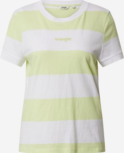 WRANGLER Shirt in gelb / weiß, Produktansicht