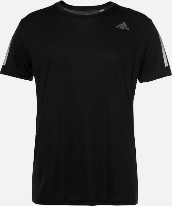 ADIDAS PERFORMANCE Funktionsshirt 'Own The Run' in schwarz / weiß, Produktansicht