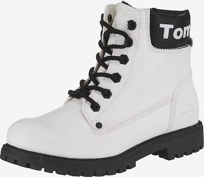 TOM TAILOR Stiefelette in schwarz / weiß, Produktansicht