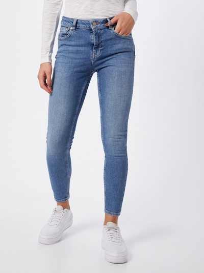 Superdry Jeans 'MID RISE SKINNY' in de kleur Blauw denim, Modelweergave