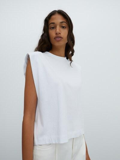 EDITED Shirt 'Elise' in weiß, Modelansicht