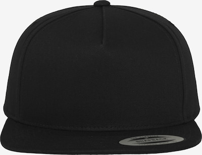 Flexfit Pet 'Classic 5 Panel Snapback' in de kleur Zwart, Productweergave