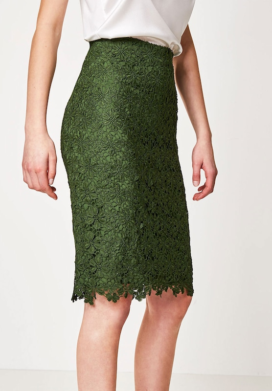 Hallhuber Pencil Skirt Of Lace