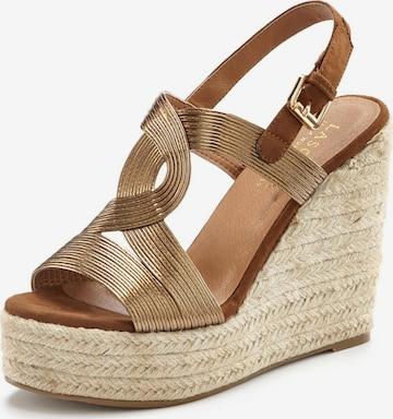 LASCANA Sandals in Bronze