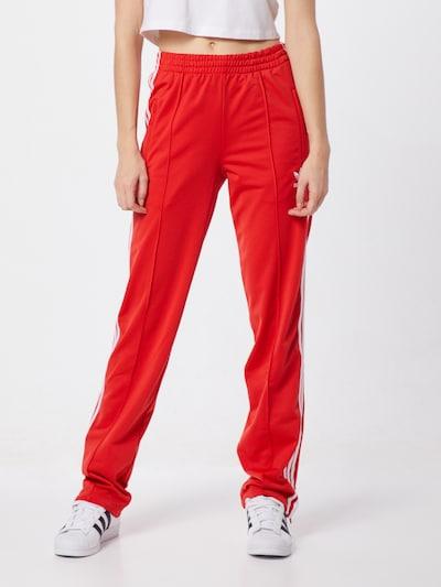 ADIDAS ORIGINALS Hose 'FIREBIRD TP' in rot / weiß, Modelansicht