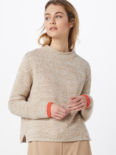 OPUS Pullover 'Pualani' in hellbraun / offwhite, Modelansicht