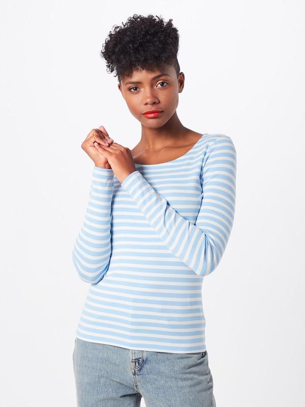 CrèmeLichtblauw Shirt '1x1 Rib shirt' Ls In T Gant qpSMVzU
