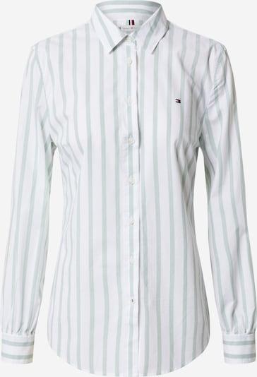 TOMMY HILFIGER Blouse in de kleur Lichtblauw / Wit, Productweergave