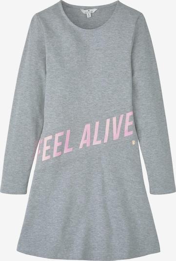 TOM TAILOR Kleider & Jumpsuits Kleid mit Schrift-Print in grau, Produktansicht