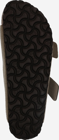 BIRKENSTOCK Pantolette 'Arizona Suede' in taupe: Ansicht von unten