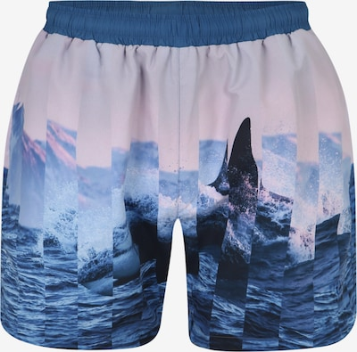 BOSS Badehose 'Paradise Fish' in blau, Produktansicht