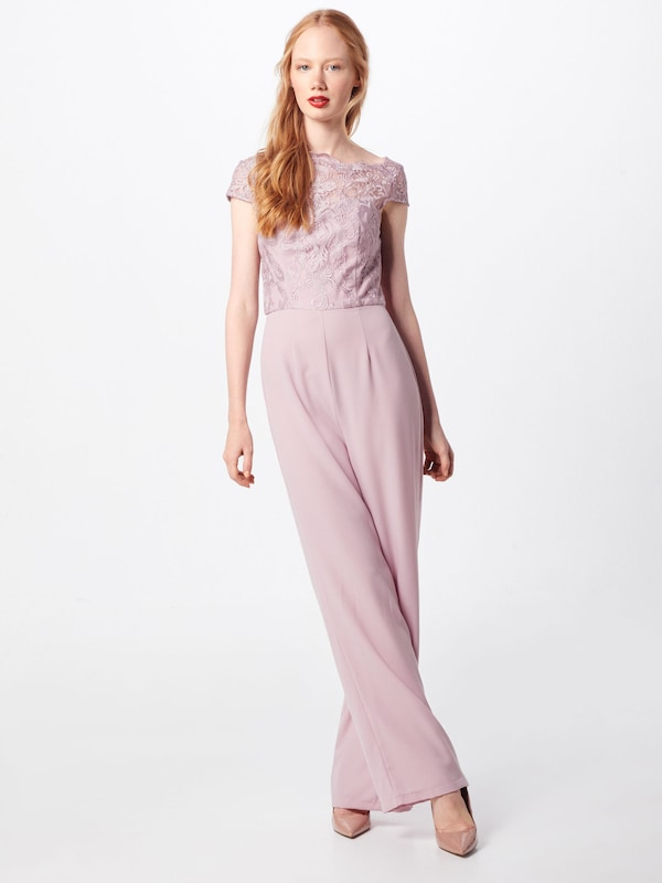 Chi Chi London Overalls 'Alicia' in rosa: Frontalansicht
