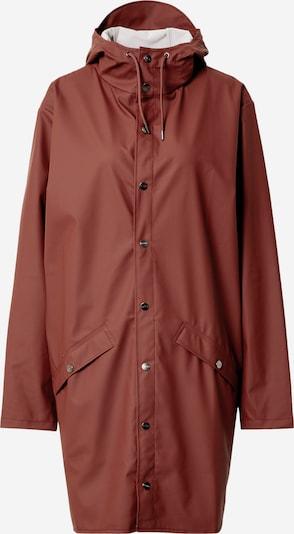 RAINS Manteau mi-saison en rouge rouille, Vue avec produit