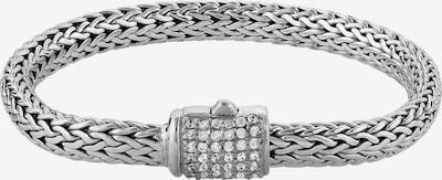 KUZZOI Armband 'Basic' in de kleur Zilver, Productweergave
