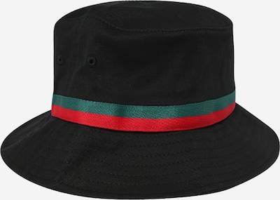 Flexfit Hut 'Bucket' in grün / rot / schwarz, Produktansicht