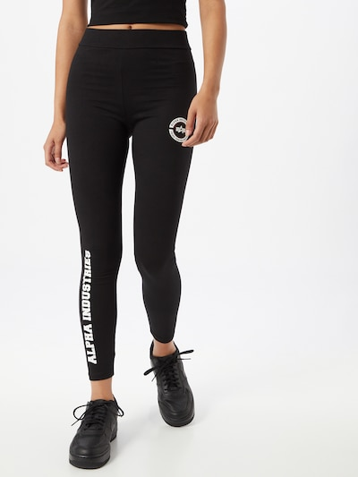 ALPHA INDUSTRIES Leggings in schwarz / weiß, Modelansicht