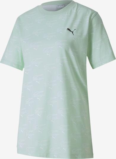 PUMA T-Shirt 'Evide' in grün / pastellgrün / schwarz / weiß, Produktansicht
