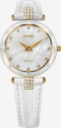 JOWISSA Analoog horloge 'Facet Strass' in de kleur Goud / Wit, Productweergave