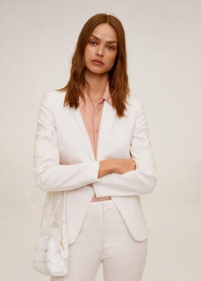 MANGO Blazer 'Boreli' in weiß, Modelansicht