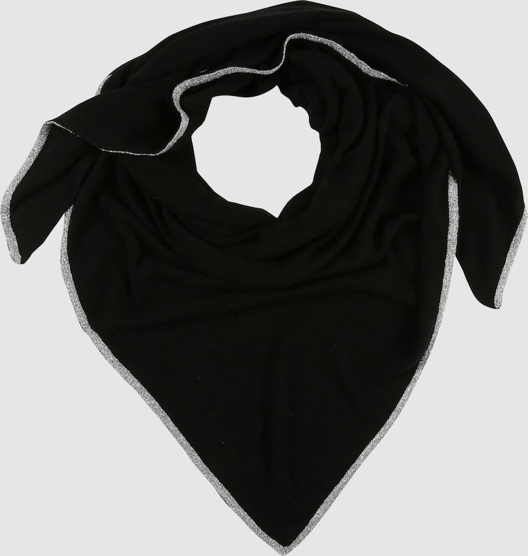 Twin Heart Triangular Cloth With Lurex Yarn