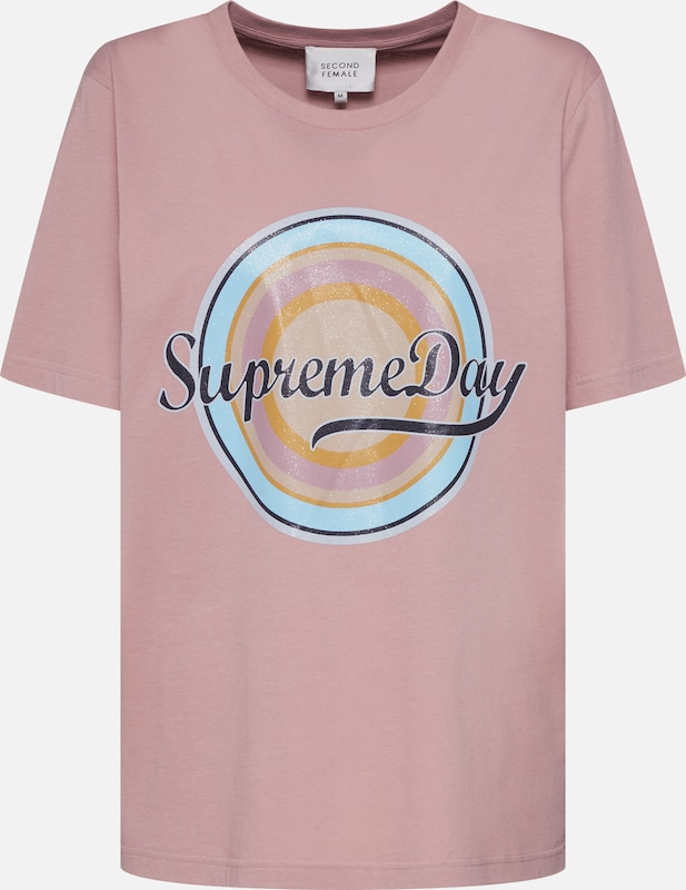 SECOND FEMALE Shirt 'Supreme SS Tee' in rosa, Produktansicht