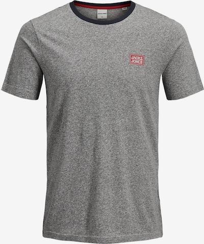 JACK & JONES Shirt in de kleur Enziaan / Grijs gemêleerd: Vooraanzicht