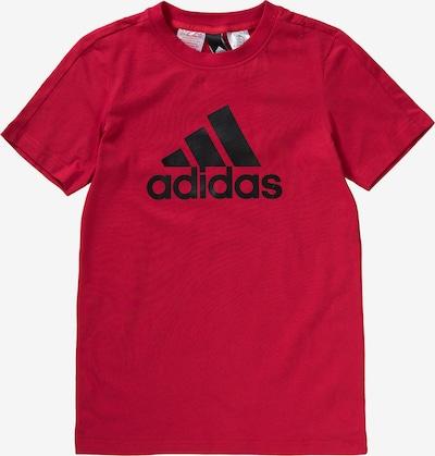 ADIDAS PERFORMANCE T-Shirt 'Essentials' in rot / schwarz: Frontalansicht