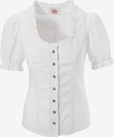 SPIETH & WENSKY Trachtenbluse mit Spitzenelementen in weiß, Produktansicht