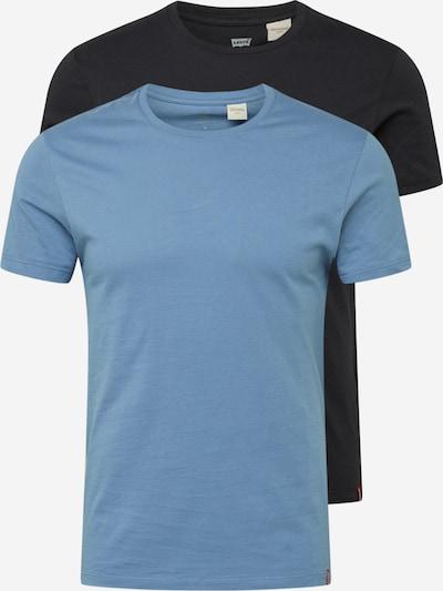 LEVI'S T-Shirt in taubenblau / schwarz, Produktansicht