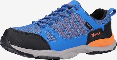 Kastinger Sneaker in blau / orange / schwarz: Frontalansicht