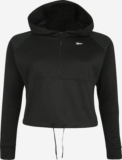 REEBOK Sweatshirt 'WOR Quarter Zip' in schwarz / weiß, Produktansicht