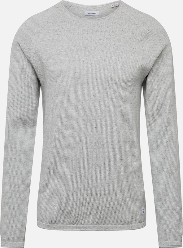 JACK & JONES Pullover 'HILL ' in hellgrau, Produktansicht