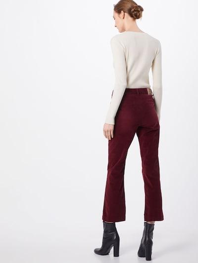 Herrlicher Pantalon 'Minx Velvet Stretch' en rouge: Vue de dos