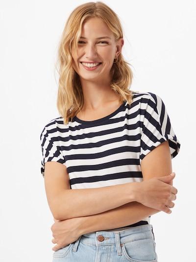 Marc O'Polo DENIM T-shirt en bleu foncé / blanc: Vue de face