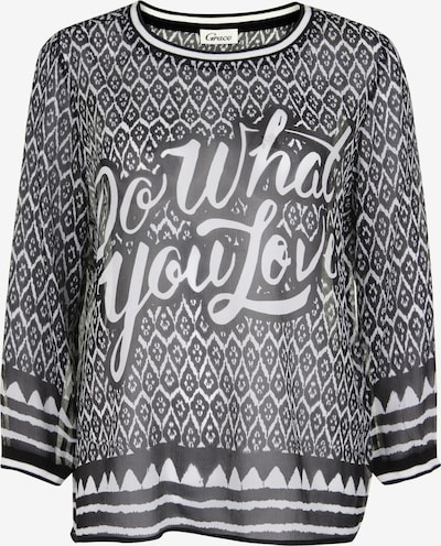 Grace Seidenbluse 'DO WHAT YOU LOVE' in schwarz, Produktansicht
