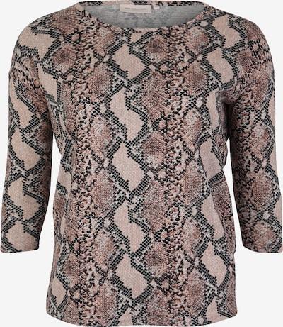 ONLY Carmakoma Majica 'ALBA' | bež / rjava barva, Prikaz izdelka
