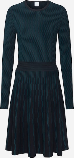 BOSS Robes en maille 'Illoran' en vert foncé / noir, Vue avec produit