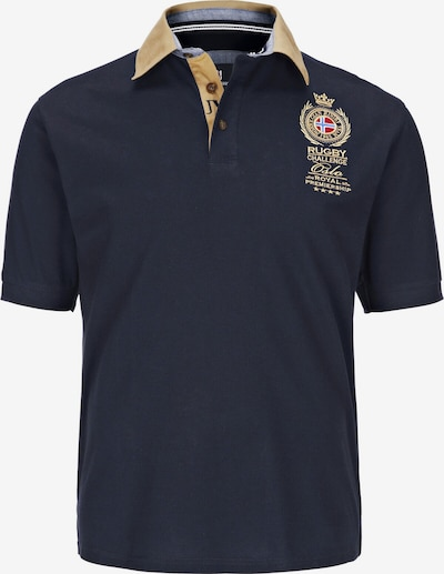 Jan Vanderstorm T-Shirt 'Joakim' en bleu nuit, Vue avec produit