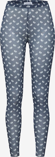 EDITED Leggings 'Merit' in de kleur Blauw / Wit, Productweergave