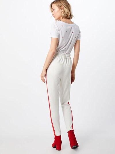 piros / fehér ONLY Élére vasalt nadrágok 'POPTRASH': Hátulnézet