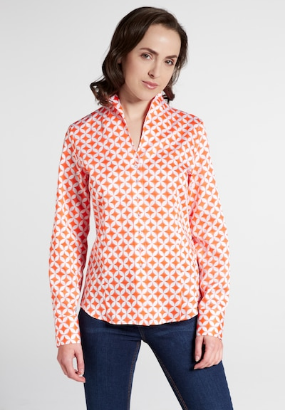 ETERNA Bluse in orange / weiß, Modelansicht