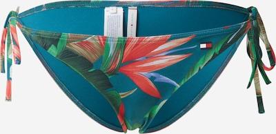 Tommy Hilfiger Underwear Spodní díl plavek 'STRING SIDE TIE BIKINI' - zelená / mix barev: Pohled zepředu