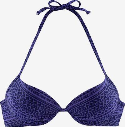 Top per bikini VENICE BEACH di colore melanzana / sambuco / lilla scuro, Visualizzazione prodotti