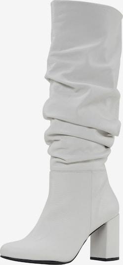 heine Stiefel in weiß: Frontalansicht