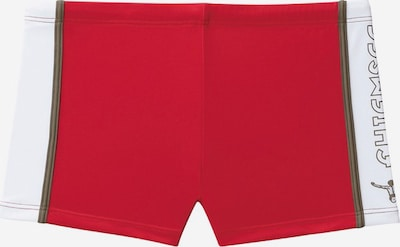 CHIEMSEE Boxer-Badehose in rot / weiß, Produktansicht