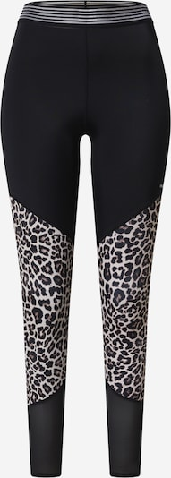 HKMX Спортен панталон в кафяво / черно / бяло, Преглед на продукта