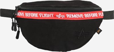 ALPHA INDUSTRIES Pojasna torbica u crvena / crna / bijela, Pregled proizvoda