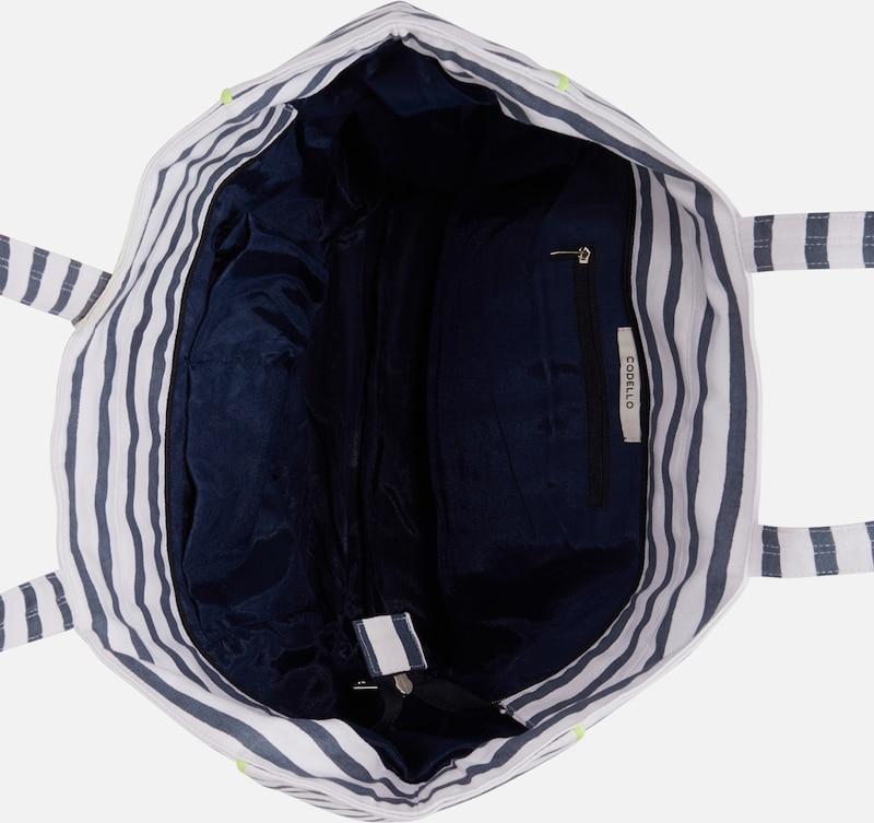 De Shopper' MarineBlanc Plage En Sac 'stripes Codello Bleu ybY6vf7g
