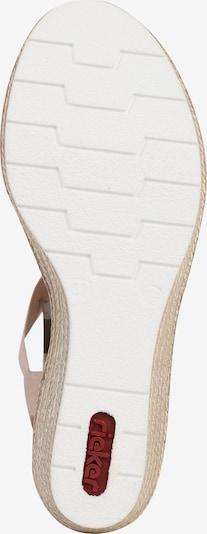 RIEKER Sandalen met riem in de kleur Oudroze: Onderaanzicht